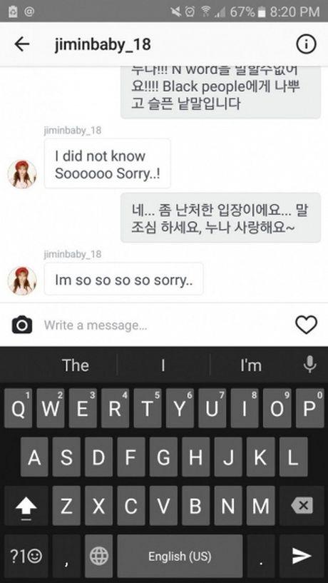 Scandal lich su tam lang, Ji Min AOA 'dinh phot' phan biet chung toc - Anh 2