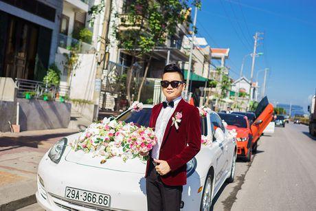 Choang vang dan sieu xe 50 ty trong le cuoi cua dai gia Quang Ninh - Anh 1