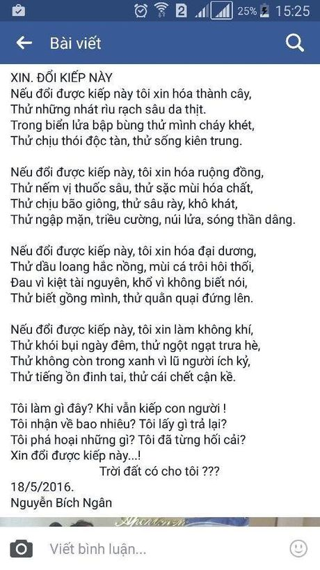 Nu sinh lop 8 'day song' voi bai tho 'Xin doi kiep nay' - Anh 2