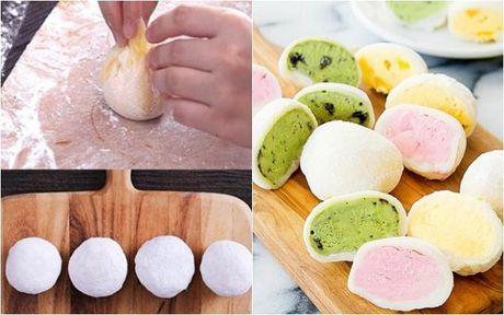 4 nguyen lieu lam banh mochi kem lanh cuc de - Anh 1