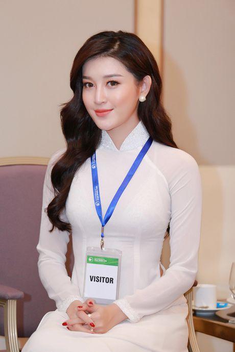 Huyen My dien ao dai trang don Hoang tu William - Anh 6