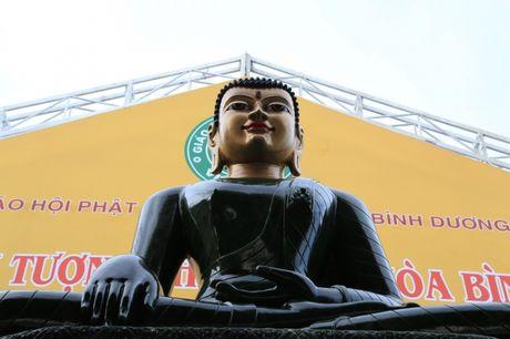 Tuong Phat Ngoc hoa binh the gioi da duoc cung nghinh den Binh Duong - Anh 1