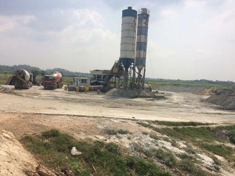 Vinh Phuc: Tram tron be tong khong phep ngang nhien hoat dong - Anh 1