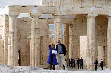 Obama den xu than thoai, thuc hien uoc mo tham den Parthenon - Anh 2