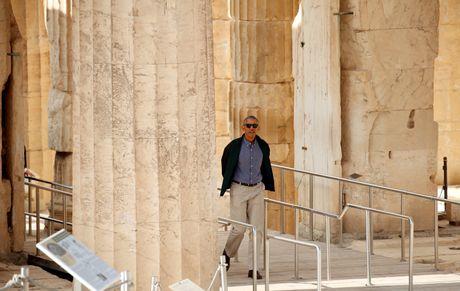 Obama den xu than thoai, thuc hien uoc mo tham den Parthenon - Anh 4