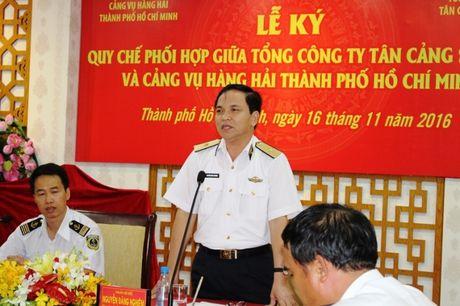 Cang vu Hang hai TP.HCM, TCT Tan cang ky ket quy che phoi hop - Anh 2