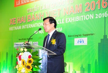 Chinh thuc khai mac trien lam quoc te xe hai banh Viet Nam 2016 tai Ha Noi - Anh 1