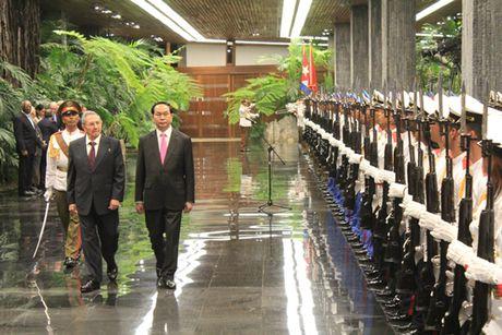 Toan canh: Chu tich nuoc Tran Dai Quang tham chinh thuc Cuba - Anh 7