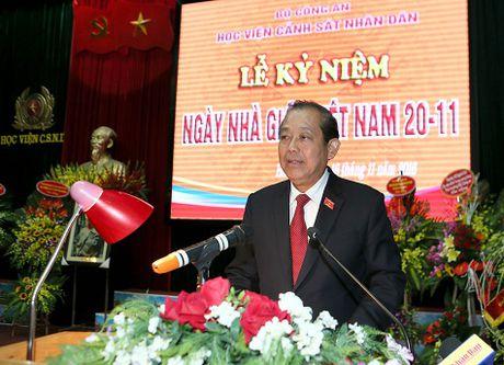 Pho Thu tuong Thuong truc tham Hoc vien Canh sat nhan dan - Anh 1