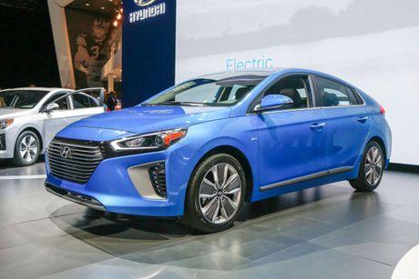 Hyundai 'trinh lang' xe tu lai Ioniq tai trien lam Los Angeles - Anh 1