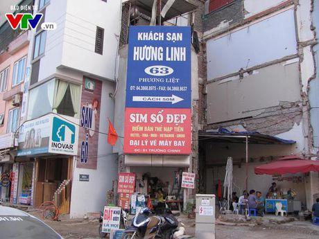 Ha Noi: Nha sieu mong, sieu meo xuat hien tren duong Truong Chinh - Anh 4
