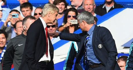 Dai chien giua MU va Arsenal, Wenger se gat bo han thu bat tay Mourinho - Anh 1