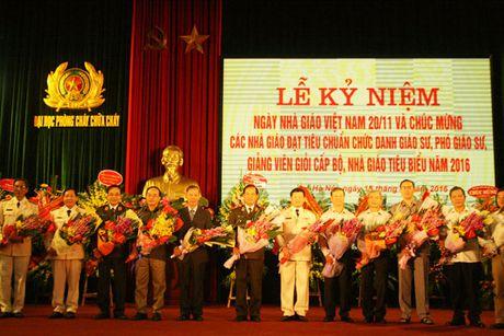Truong Dai hoc PCCC ky niem Ngay Nha giao Viet Nam - Anh 1