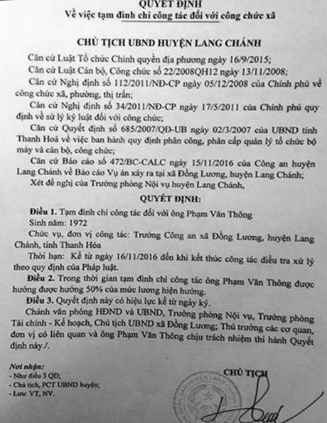 Khoi to vu an Truong Cong an xa giet hai co giao Mam non - Anh 1