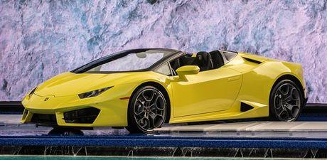 Can canh Lamborghini Huracan LP580-2 Spyder dan dong cau sau - Anh 1
