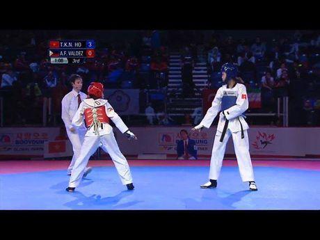 Bong hong 15 tuoi Kim Ngan doat HCV Giai vo dich Taekwondo tre the gioi 2016 - Anh 1