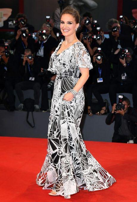 Thoi trang bau trang nha, tuyet dep cua Natalie Portman - Anh 1