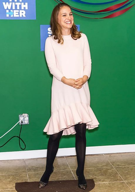 Thoi trang bau trang nha, tuyet dep cua Natalie Portman - Anh 5