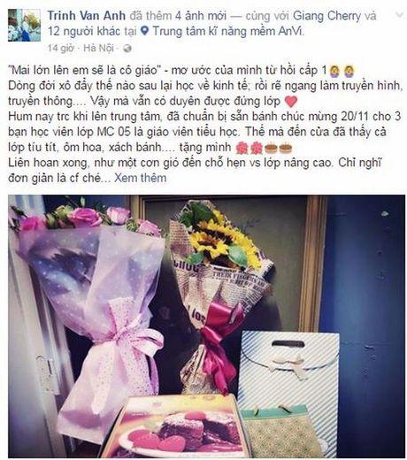 MC Trinh Van Anh va uoc mo 'mai lon len em se la co giao' - Anh 5