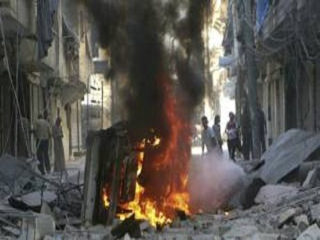 Chien dau co Syria pha nat trung tam chi huy cua phien quan gan Aleppo - Anh 1