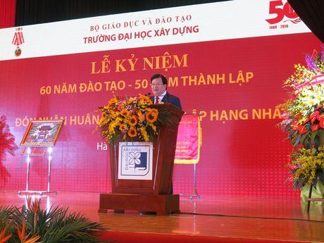 Truong Dai hoc Xay dung don nhan Huan chuong Doc lap hang Nhat - Anh 4