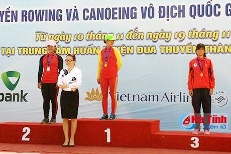 Ha Tinh gianh 2 huy chuong Giai Dua thuyen Rowing va Canoeing quoc gia - Anh 1