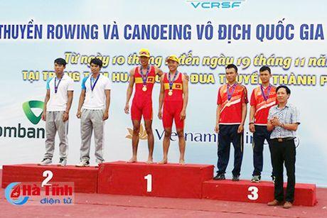 Ha Tinh gianh 2 huy chuong Giai Dua thuyen Rowing va Canoeing quoc gia - Anh 2