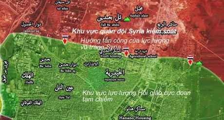 Chien su Aleppo: Quan doi Syria, Hezbollah danh chiem mot so diem trong yeu (video) - Anh 1