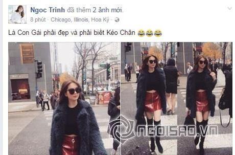 Ngoc Trinh thua nhan photoshop khien doi chan dai - Anh 1