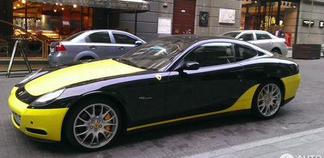 612 Scaglietti- sieu ngua thiet ke xau nhat cua Ferrari bat gap tren pho - Anh 5