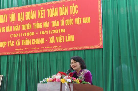 Pho Chu tich nuoc Dang Thi Ngoc Thinh du Ngay hoi dai doan ket tai Ha Giang - Anh 1