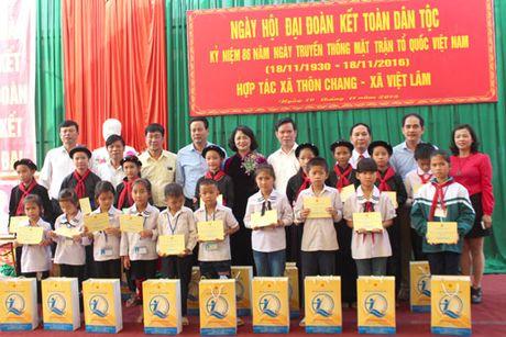 Pho Chu tich nuoc Dang Thi Ngoc Thinh du Ngay hoi dai doan ket tai Ha Giang - Anh 7