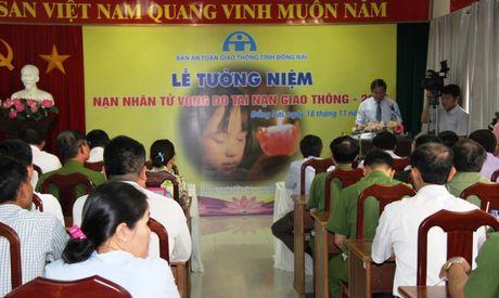 Ban ATGT tinh Dong Nai tuong niem nan nhan tu vong do TNGT - Anh 1