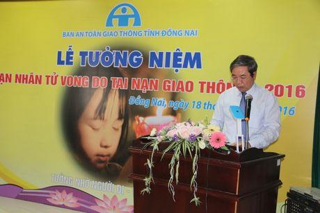 Ban ATGT tinh Dong Nai tuong niem nan nhan tu vong do TNGT - Anh 2