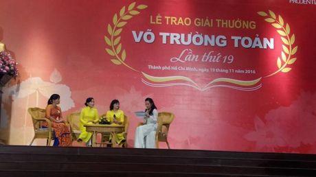 Giai thuong Vo Truong Toan vinh danh 33 nha giao tai TP.HCM - Anh 1