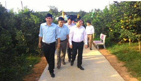 Chu tich Hoi NDVN Lai Xuan Mon tham vung cam Cao Phong - Anh 2
