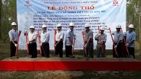 Dong tho du an Tram bien ap 500kV Viet Tri - Anh 1