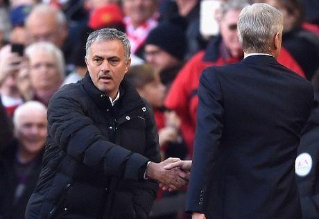Mourinho va Wenger: Bat tay nhung khong them nhin mat nhau - Anh 1