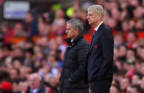 Mourinho va Wenger: Bat tay nhung khong them nhin mat nhau - Anh 3