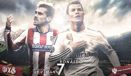 Atletico vs Real: Ronaldo so tai Griezmann - Anh 1