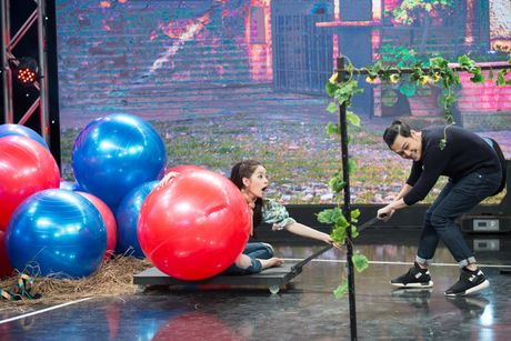 Chi Pu, Quang Vinh 'vat va' trong game show ''My man can – Dan ong phai the'' - Anh 3