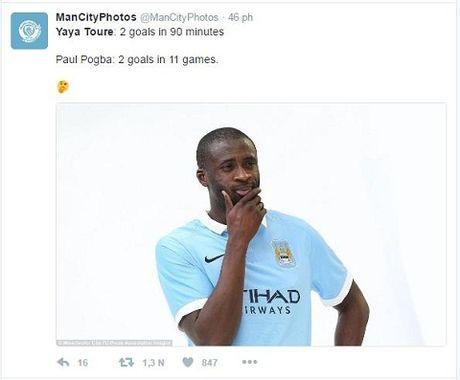 Yaya Toure dot ngot tro lai, lap cu dup cho Man City, cong dong mang 'soc' - Anh 6