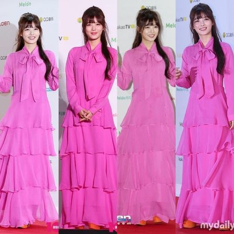 Kim Yoo Jung - my nhan Han chuong vay 'ton vai' tren tham do - Anh 1