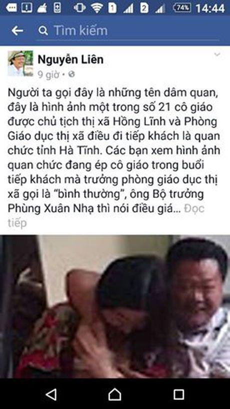Xu phat nguoi dang thong tin sai su that ve giao vien o Ha Tinh tren Facebook - Anh 1