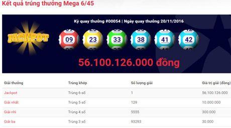 Ve xo so trung 56 ty dong duoc phat hanh tai Ba Ria - Vung Tau - Anh 1