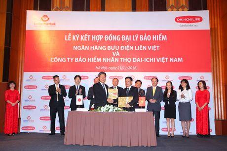 Dai-ichi Life Viet Nam la doanh nghiep doc quyen cung cap bao hiem qua he thong LienVietPostBank - Anh 1