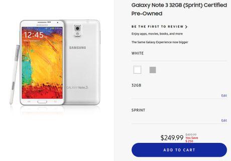 Samsung mo ban lai ban Galaxy Note 3 tan trang - Anh 1