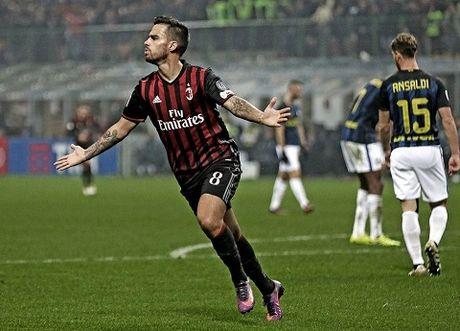 AC Milan 2-2 Inter: Suso lap cu dup nhung AC Milan van danh roi 2 diem - Anh 1