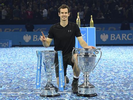 Andy Murray vo dich ATP World Tour Finals: Phia truoc la bau troi - Anh 1