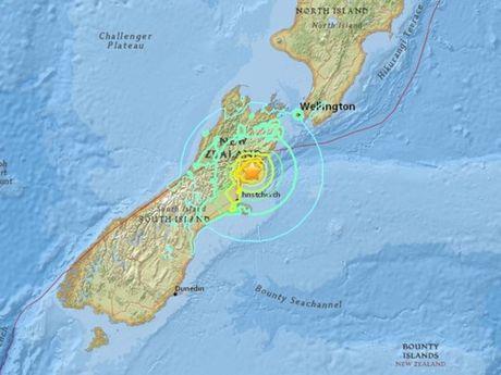 Dong dat 6,3 do Richter lam rung chuyen mien Trung New Zealand - Anh 1